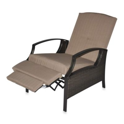 All-Weather Wicker Deep Seating Cushion Outdoor Recliner with Cushions