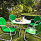 Crosley Griffith Metal 5-Piece Dining Set in Grasshopper Green