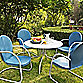 Crosley Griffith 5-Piece Metal Dining Set in Sky Blue