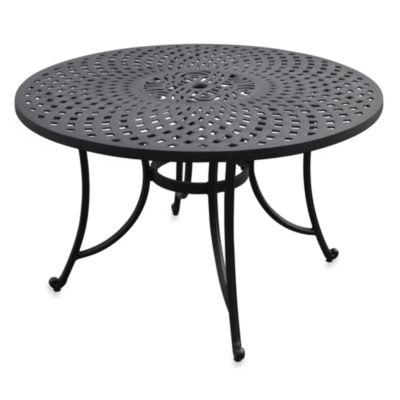 Sedona 46-Inch Outdoor Dining Table in Black