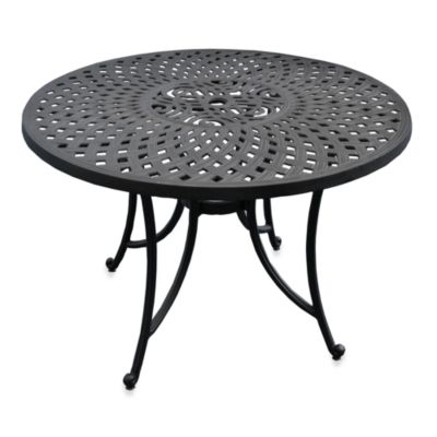 Sedona 42-Inch Outdoor Dining Table in Black