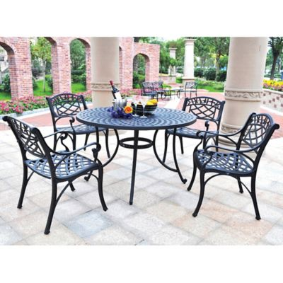 Crosley Sedona 5-Piece Outdoor Dining Set in Black