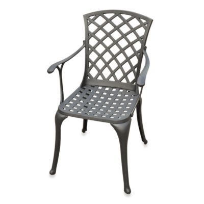 Sedona Cast Aluminum High-Back Arm Chair - Set of 2 - Black