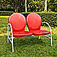 Griffith Metal Loveseat in Red Finish