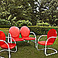 Crosley Griffith 3-Piece Metal Outdoor Seating Set in Red
