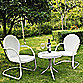 Griffith 3-Piece Metal Outdoor Seating Set in White