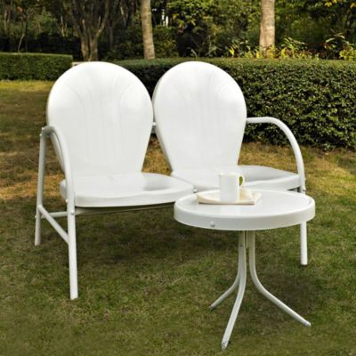 Griffith 2-Piece Metal Outdoor Seating Set in White