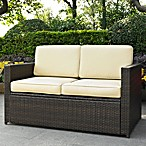 Palm Harbor Collection Wicker Loveseat in Dark Beige