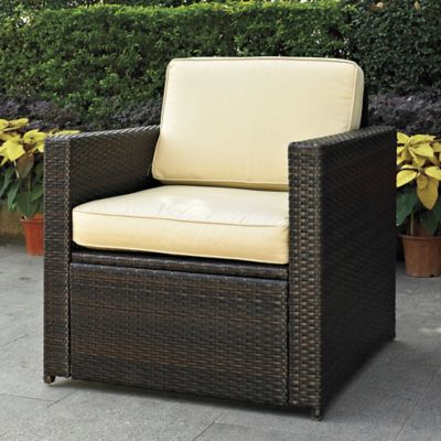 Palm Harbor Collection Wicker Chair in Dark Beige