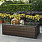 Crosley Palm Harbor Outdoor Wicker Glass-Top Table