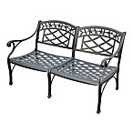Sedona Cast Aluminum Outdoor Loveseat in Black