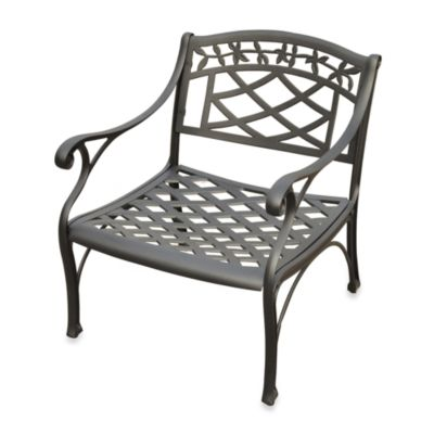 Sedona Cast Aluminum Club Chair in Black