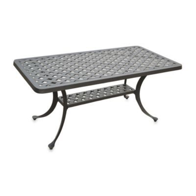 Sedona Cast Aluminum Rectangular Cocktail Table in Black