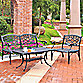 Crosley 3-Piece Sedona Outdoor Loveseat, Chair & Table Set in Black
