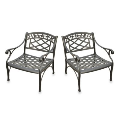 Sedona 2-Piece Cast Aluminum Outdoor Club Chairs Set