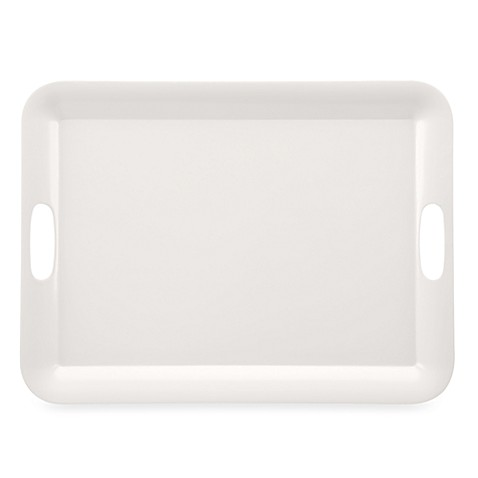 Solid White Tray with Handles