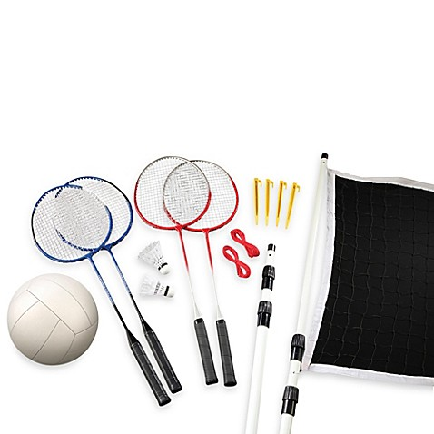 Black Series 16-Piece Badminton Outdoor Game
