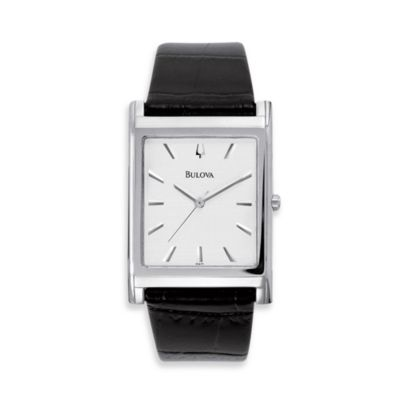 Bulova Men's Dress Black Strap Watch