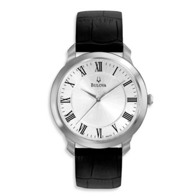 Bulova Men's Black Strap Watch