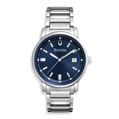 Bulova Men's Highbridge Round Silver Watch