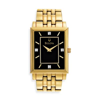 Bulova Men's Diamond Classic Goldtone Watch
