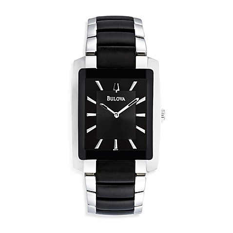 Bulova Men's Black Dress Watch