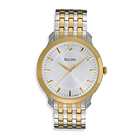 Bulova Men's Classic Round Two-Tone Silver Watch