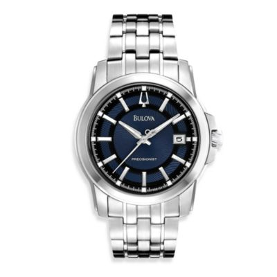 Bulova Men's Precionist Round Silver Watch