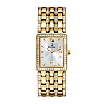 Bulova Men's Crystal/Gold Bracelet Watch