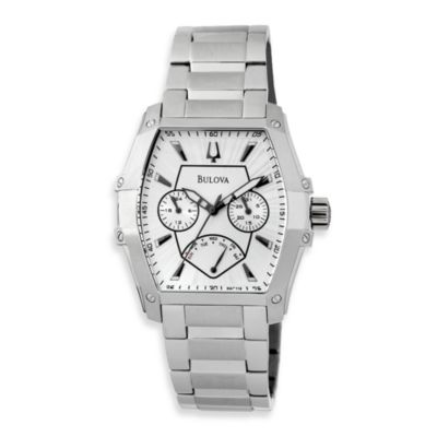 Bulova Men's Multifunction Silver Bracelet Watch
