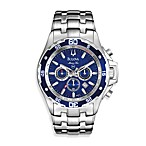 Bulova Men's Marine Star Silver Watch
