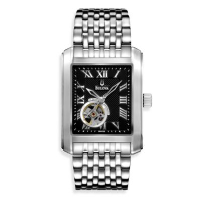 Bulova Men's Silver Mechanical Watch