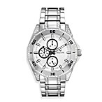Bulova Men's Crystal Multifunction Silver Watch