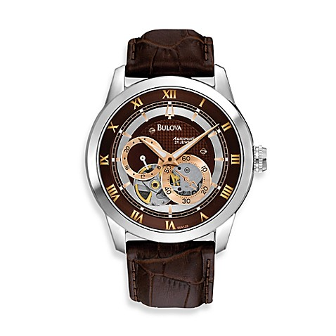 Bulova Men's BVA Series Automatic Brown Watch