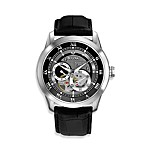 Bulova Men's Automatic Black Strap Watch