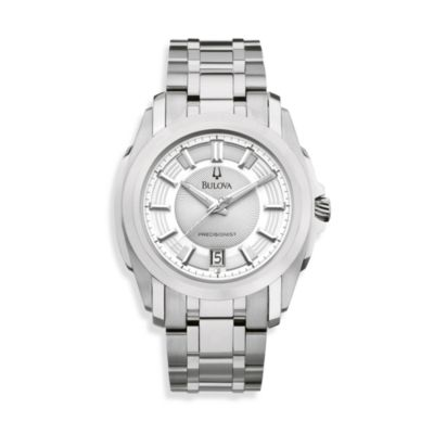 Bulova Men's Precisionist Stainless Steel/Silver Watch