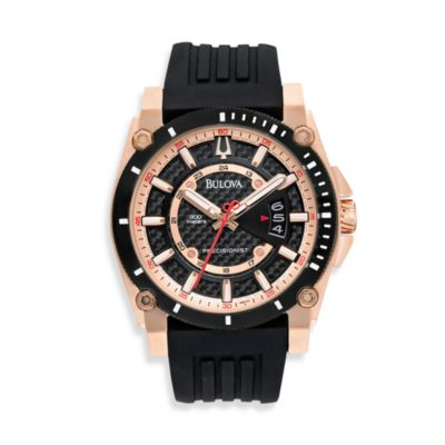 Bulova Men's Precisionist Black Rubber Strap