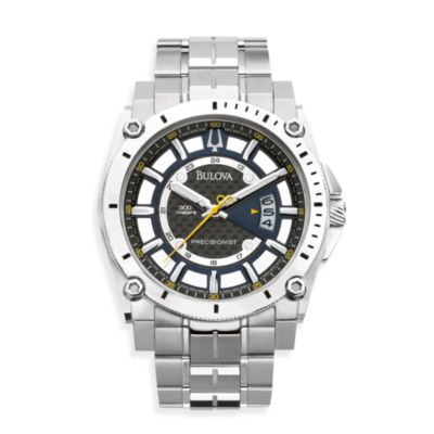 Bulova Men's Precisionist Steel Bracelet Silver Watch