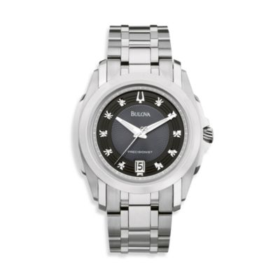 Bulova Men's Precisionist Silver Bracelet Watch