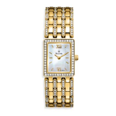 Bulova Women's Crystal Bracelet Watch
