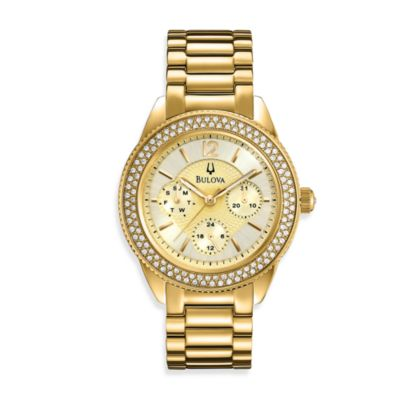 Bulova Women's Gold-Tone Stainless Steel Bracelet Watch