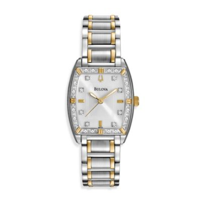 Bulova Women's Two-Tone Stainless Steel Bracelet Watch