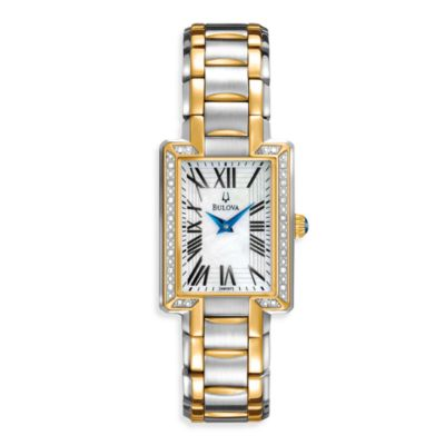 Bulova Women's Two-Tone Silver/Gold Bracelet Watch