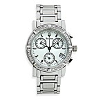 Bulova Women's Diamond Chronograph Silver Watch