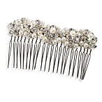 MEG Jewelry Silver Freshwater Pearl and Swarovski Crystal Fiji Hair Comb