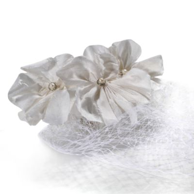 MEG Jewelry Silk Flower and Veiling Jamaican Hair Accessory