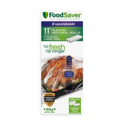 Foodsaver® 11-Inch 2-Roll Pack Expandable Pleated Heat-Seal Rolls