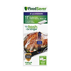 FoodSaver® 11-Inch Expandable Pleated Heat-Seal Rolls (2-Roll Pack)