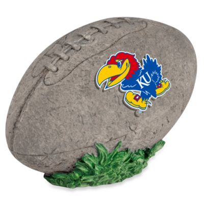 University of Kansas 3D Football Garden Stone