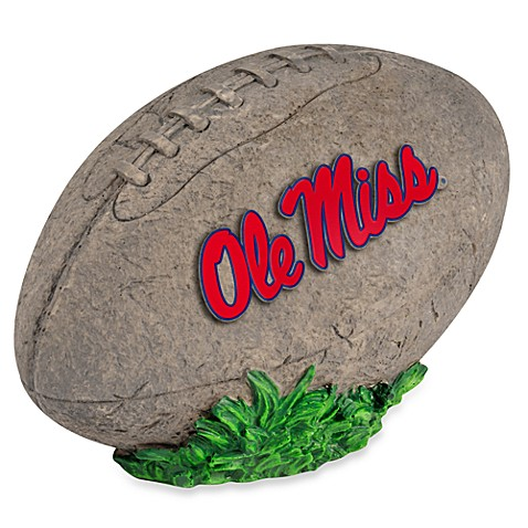 University of Mississippi 3D Football Garden Stone